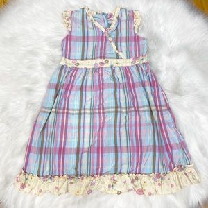 Hanna Andersson Dress Plaid Ruffle 120